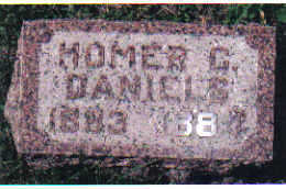 DANIELS, HOMER C. - Cherokee County, Iowa   HOMER C. DANIELS