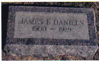 DANIELS, JAMES F. - Cherokee County, Iowa   JAMES F. DANIELS