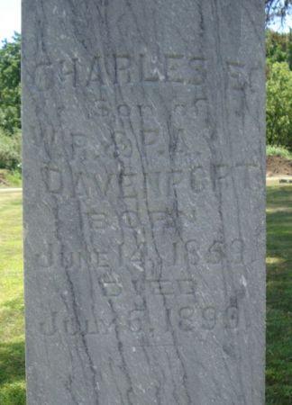 DAVENPORT, CHARLES E. - Cherokee County, Iowa   CHARLES E. DAVENPORT
