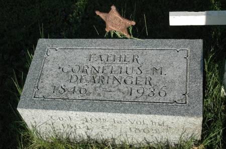 DEARINGER, CORNELIUS M. - Cherokee County, Iowa   CORNELIUS M. DEARINGER