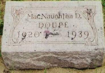 DOUPE, MACNAUGHTON D. - Cherokee County, Iowa   MACNAUGHTON D. DOUPE