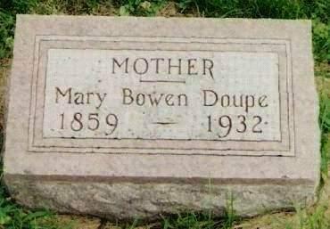 BOWEN DOUPE, MARY - Cherokee County, Iowa   MARY BOWEN DOUPE