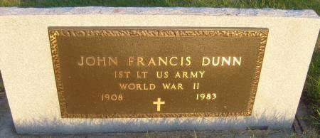 DUNN, JOHN FRANCIS - Cherokee County, Iowa | JOHN FRANCIS DUNN