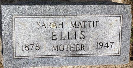 ELLIS, SARAH MATTIE - Cherokee County, Iowa | SARAH MATTIE ELLIS