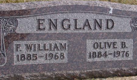 ENGLAND, F. WM. & OLIVE - Cherokee County, Iowa | F. WM. & OLIVE ENGLAND