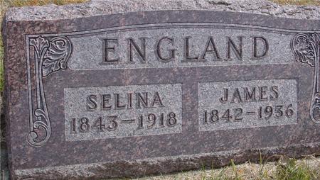 ENGLAND, JAMES & SELINA - Cherokee County, Iowa   JAMES & SELINA ENGLAND