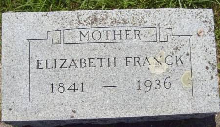 FRANCK, ELIZABETH - Cherokee County, Iowa | ELIZABETH FRANCK