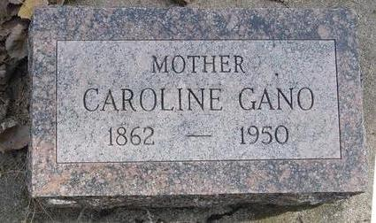 GANO, CAROLINE - Cherokee County, Iowa | CAROLINE GANO