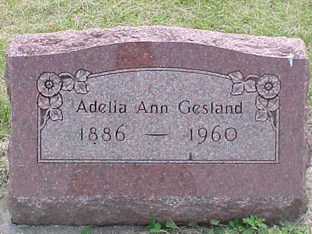 GESLAND, ADELIA ANN - Cherokee County, Iowa | ADELIA ANN GESLAND