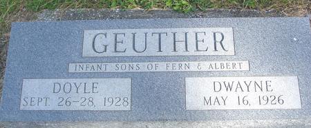 GEUTHER, DOYLE & DWAYNE - Cherokee County, Iowa   DOYLE & DWAYNE GEUTHER