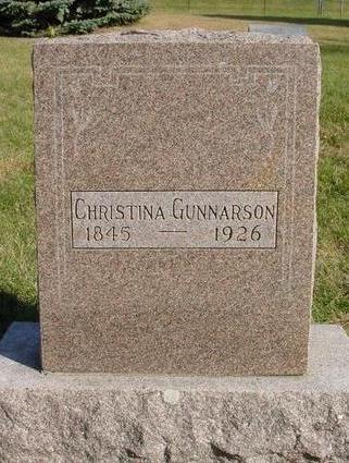 GUNNARSON, CHRISTINA - Cherokee County, Iowa | CHRISTINA GUNNARSON