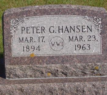 HANSEN, PETER G. - Cherokee County, Iowa | PETER G. HANSEN