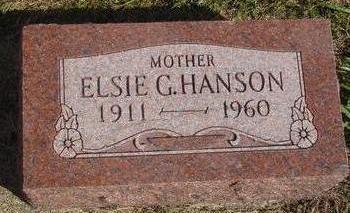 HANSON, ELSIE G. - Cherokee County, Iowa | ELSIE G. HANSON