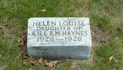 HAYNES, HELEN LOUISE - Cherokee County, Iowa   HELEN LOUISE HAYNES