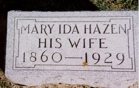 HAZEN, MARY IDA - Cherokee County, Iowa | MARY IDA HAZEN
