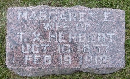 HERBERT, MARGARET E. - Cherokee County, Iowa   MARGARET E. HERBERT