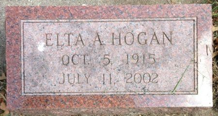 HOGAN, ELTA A. - Cherokee County, Iowa | ELTA A. HOGAN