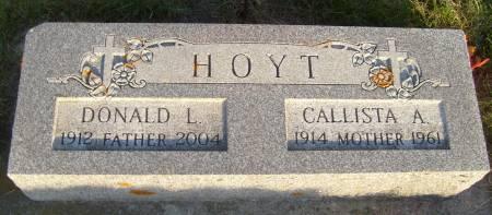 HOYT, DONALD L. - Cherokee County, Iowa   DONALD L. HOYT