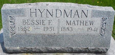 DESM HYNDMAN, BESSIE F. - Cherokee County, Iowa | BESSIE F. DESM HYNDMAN