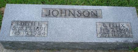 JOHNSON, B. FELIX - Cherokee County, Iowa   B. FELIX JOHNSON