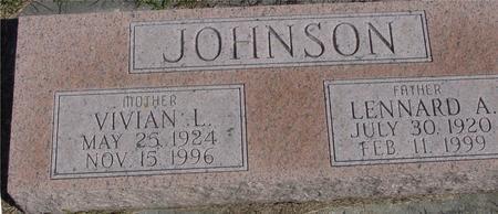 JOHNSON, LENNARD A. - Cherokee County, Iowa | LENNARD A. JOHNSON