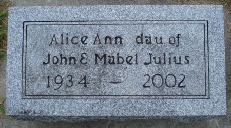 JULIUS, ALICE ANN - Cherokee County, Iowa | ALICE ANN JULIUS