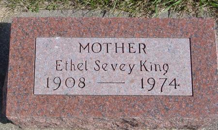 KING, ETHEL SEVEY - Cherokee County, Iowa | ETHEL SEVEY KING