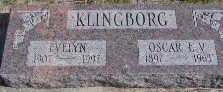 KLINGBORG, OSCAR & EVELYN - Cherokee County, Iowa | OSCAR & EVELYN KLINGBORG
