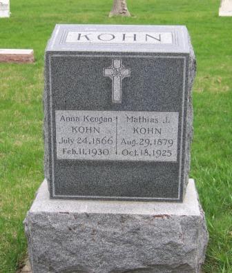 KEOGAN KOHN, ANNA - Cherokee County, Iowa   ANNA KEOGAN KOHN