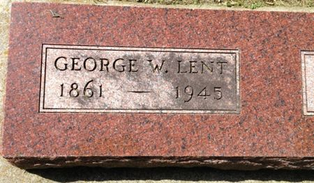 LENT, GEORGE W. - Cherokee County, Iowa | GEORGE W. LENT
