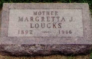 DOUPE LOUCKS, MARGRETTA JANE - Cherokee County, Iowa   MARGRETTA JANE DOUPE LOUCKS