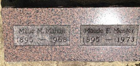MAHAN, MILLIE M. - Cherokee County, Iowa   MILLIE M. MAHAN