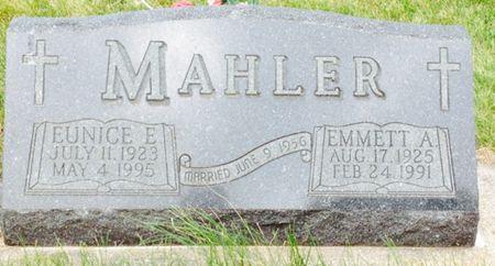 MAHLER, EUNICE E. - Cherokee County, Iowa   EUNICE E. MAHLER