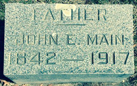 MAIN, JOHN E. - Cherokee County, Iowa   JOHN E. MAIN