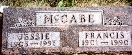 MCCABE, FRANCIS & JESSIE - Cherokee County, Iowa | FRANCIS & JESSIE MCCABE