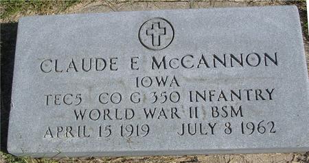 MCCANNON, CLAUDE E. - Cherokee County, Iowa | CLAUDE E. MCCANNON