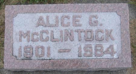 MCCLINTOCK, ALICE G. - Cherokee County, Iowa | ALICE G. MCCLINTOCK