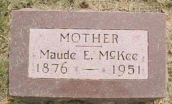 MCKEE, MAUDE E. - Cherokee County, Iowa | MAUDE E. MCKEE