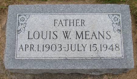 MEANS, LOUIS W. - Cherokee County, Iowa   LOUIS W. MEANS