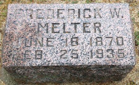 MELTER, FREDERICK W. - Cherokee County, Iowa   FREDERICK W. MELTER