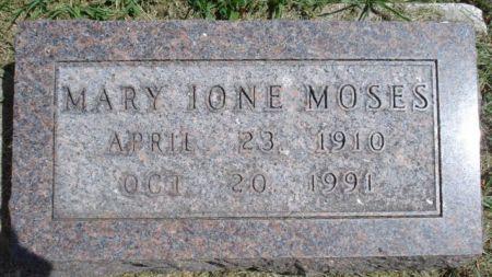 MOSES, MARY IONE - Cherokee County, Iowa   MARY IONE MOSES