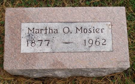 MOSIER, MARTHA O. - Cherokee County, Iowa | MARTHA O. MOSIER