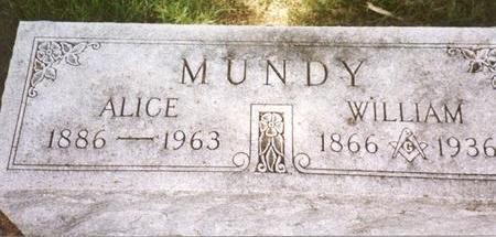 MUNDY, WILLIAM & ALICE - Cherokee County, Iowa | WILLIAM & ALICE MUNDY