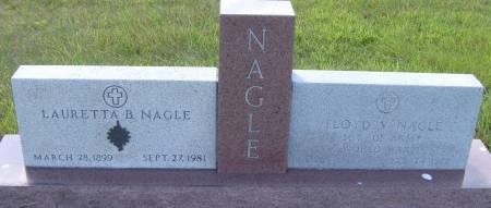 NAGLE, LAURETTA B. - Cherokee County, Iowa   LAURETTA B. NAGLE