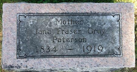 GRAY PATERSON, JANE FRASER - Cherokee County, Iowa | JANE FRASER GRAY PATERSON