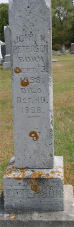 PETERSON, JOHN M. - Cherokee County, Iowa | JOHN M. PETERSON