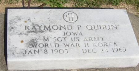 QUIRIN, RAYMOND P. - Cherokee County, Iowa | RAYMOND P. QUIRIN