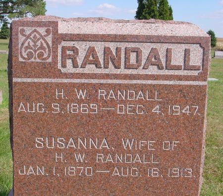 RANDALL, H. W. - Cherokee County, Iowa | H. W. RANDALL