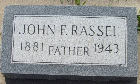 RASSEL, JOHN F. - Cherokee County, Iowa | JOHN F. RASSEL