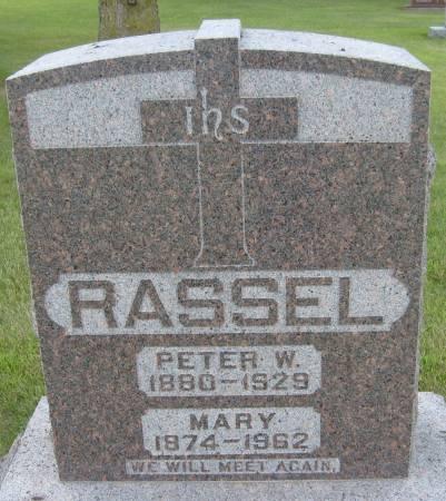 RASSEL, MARY - Cherokee County, Iowa   MARY RASSEL